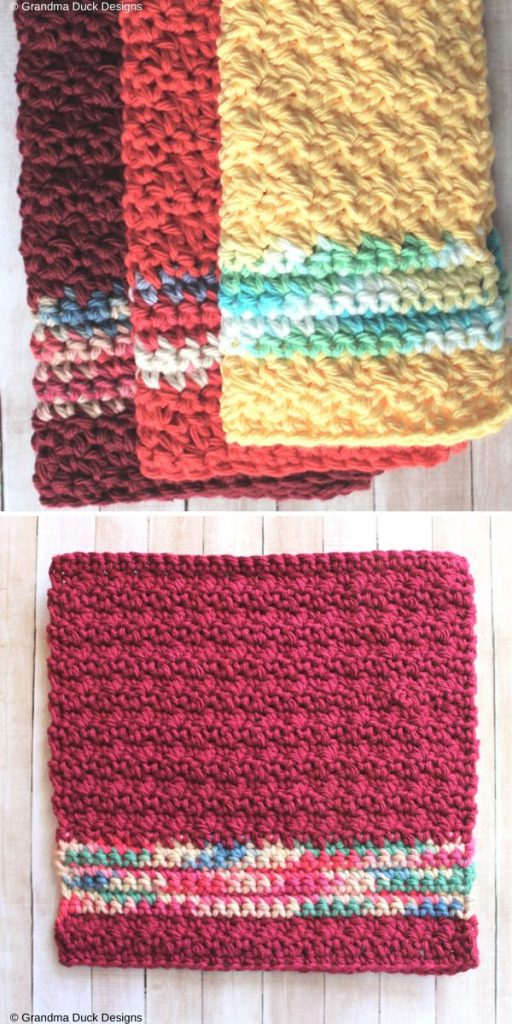 Snippets & Scraps Series #1 Scrappy Dishcloths Free Crochet Pattern