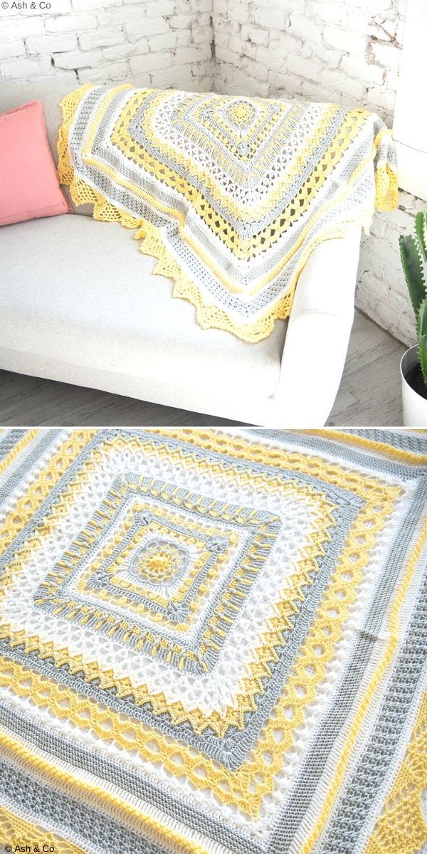 Sunny Day Blanket Free Crochet Pattern