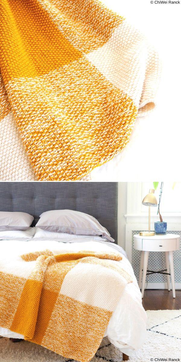 Terra Blanket Free Knitting Pattern