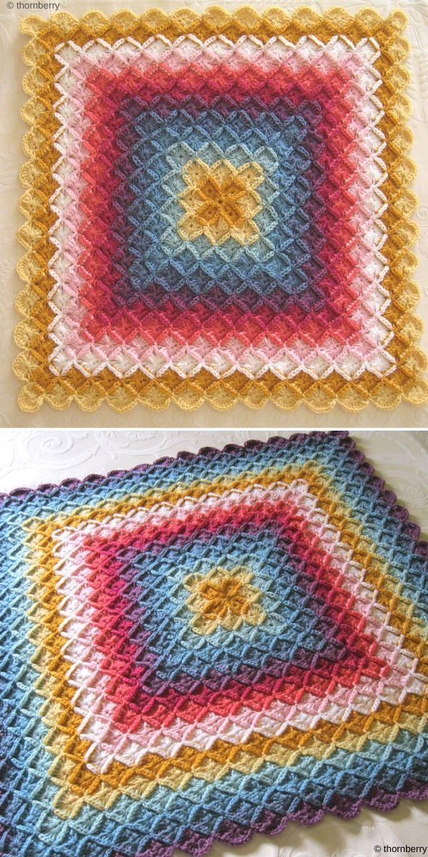 The Wool Eater Blanket Free Crochet Pattern