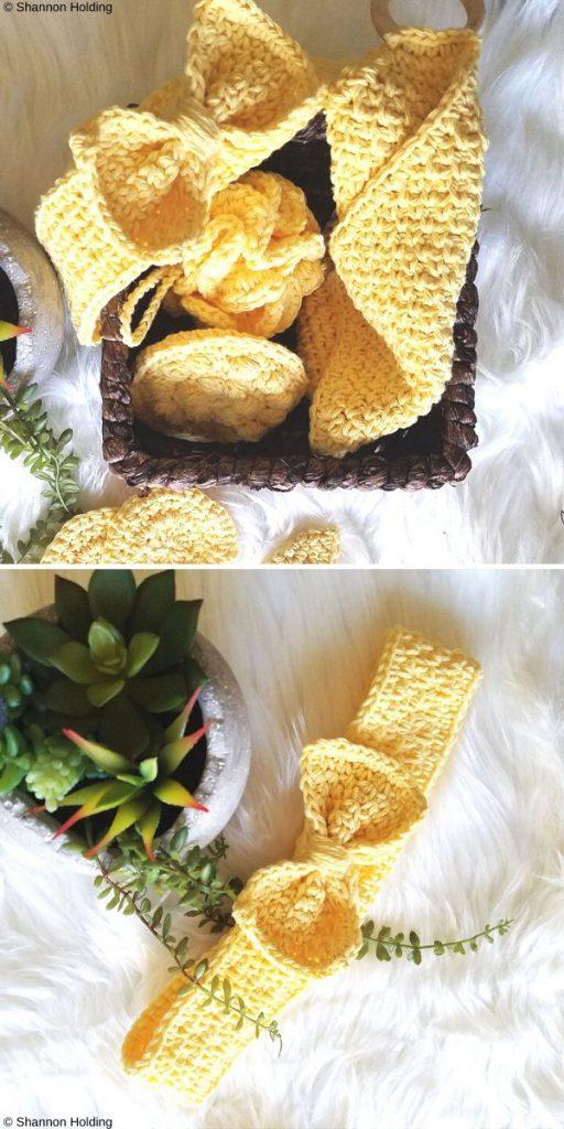 Ultimate Bath Set Free Crochet Pattern