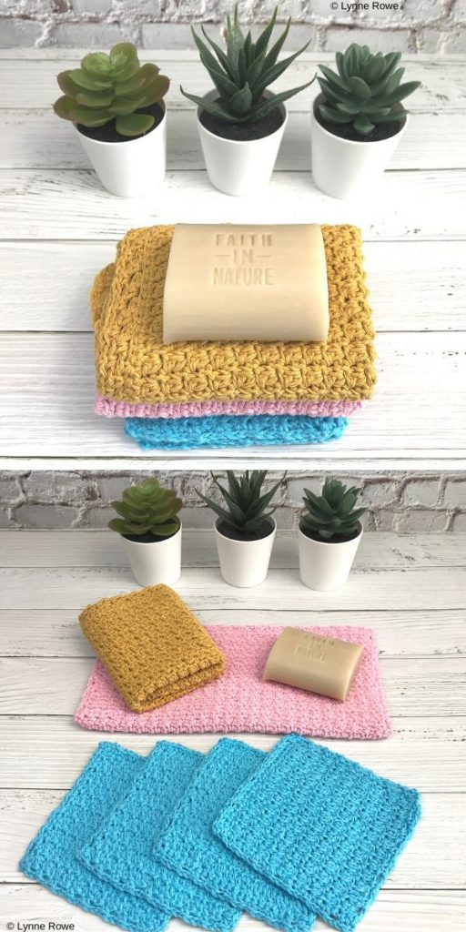 Washed Away Washcloths Free Crochet Pattern