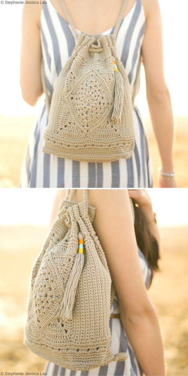 Wildrose BackpackFree Crochet Pattern