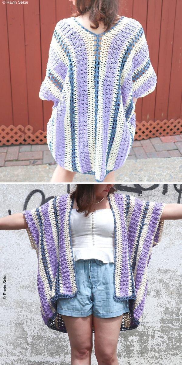 Wisteria Drops KimonoFree Crochet Pattern