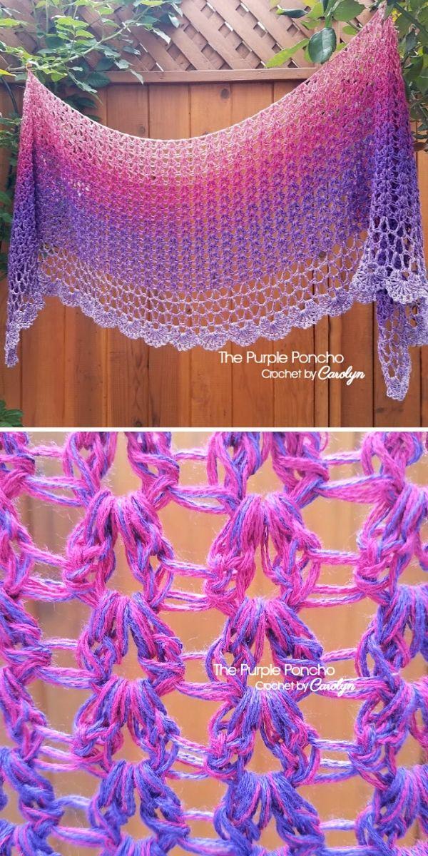 Zen Garden Shawl Free Crochet Pattern