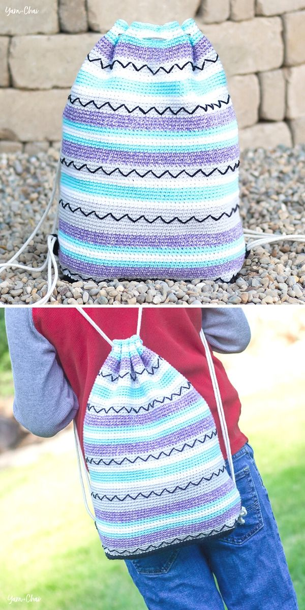 Zig Zag Bag Free Crochet Pattern