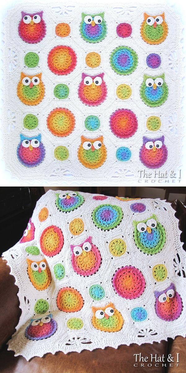 Crochet Owls a Baby Blanket_1