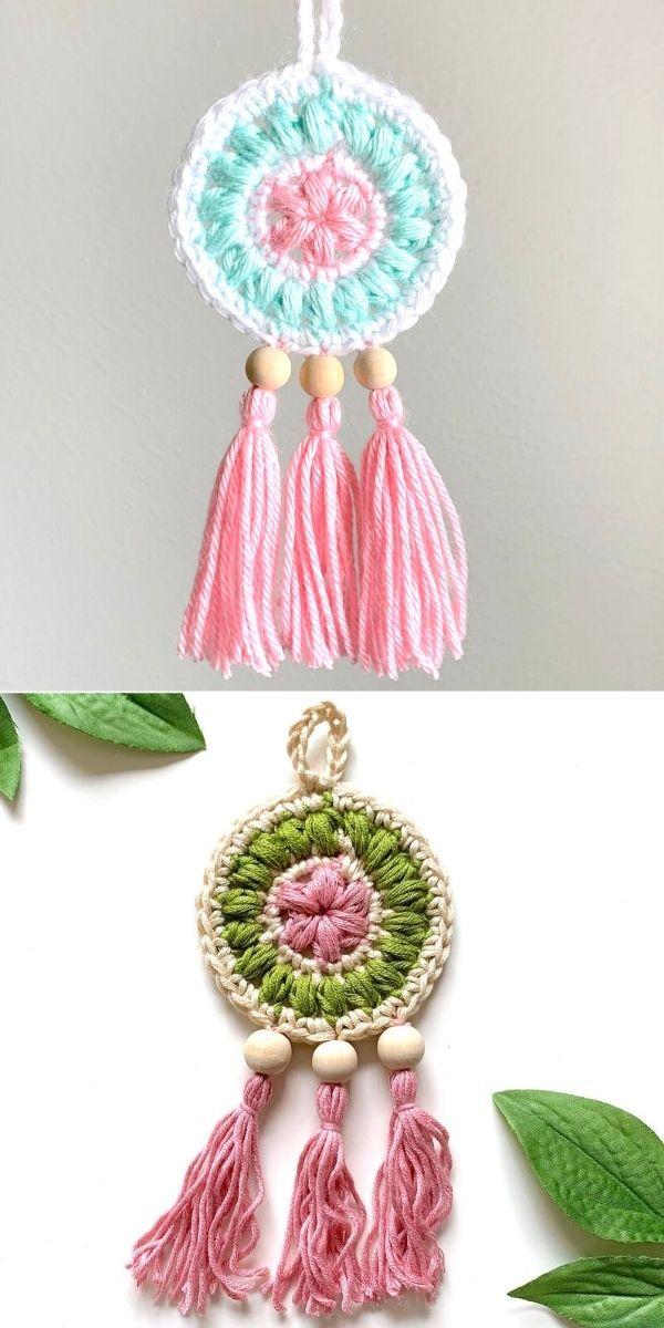 Petite Floral Dreamcatcher