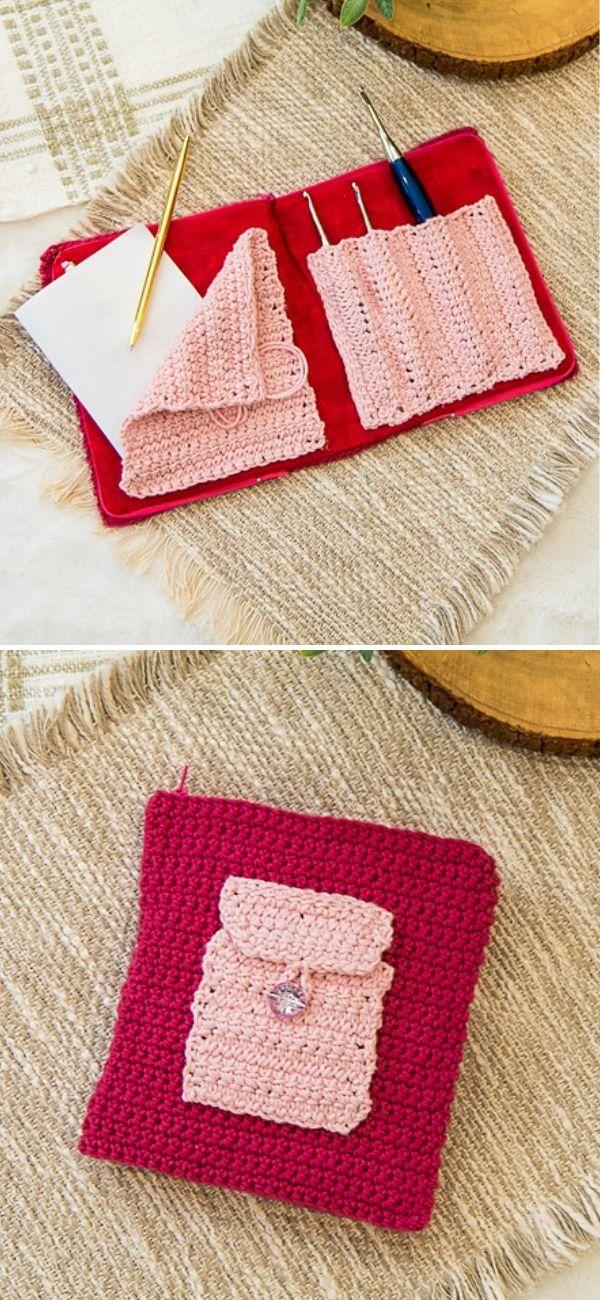 Zippered Crochet Hook Case