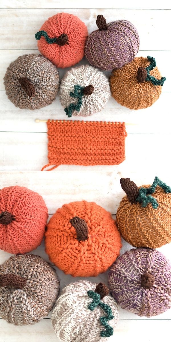 Amazing Knitted Pumpkins