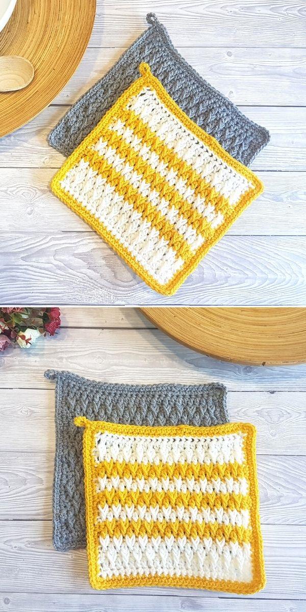 Alpine Stitch Pot Holders