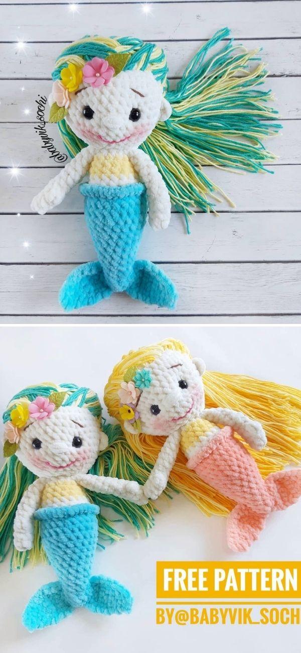 Crochet Mermaid doll pattern