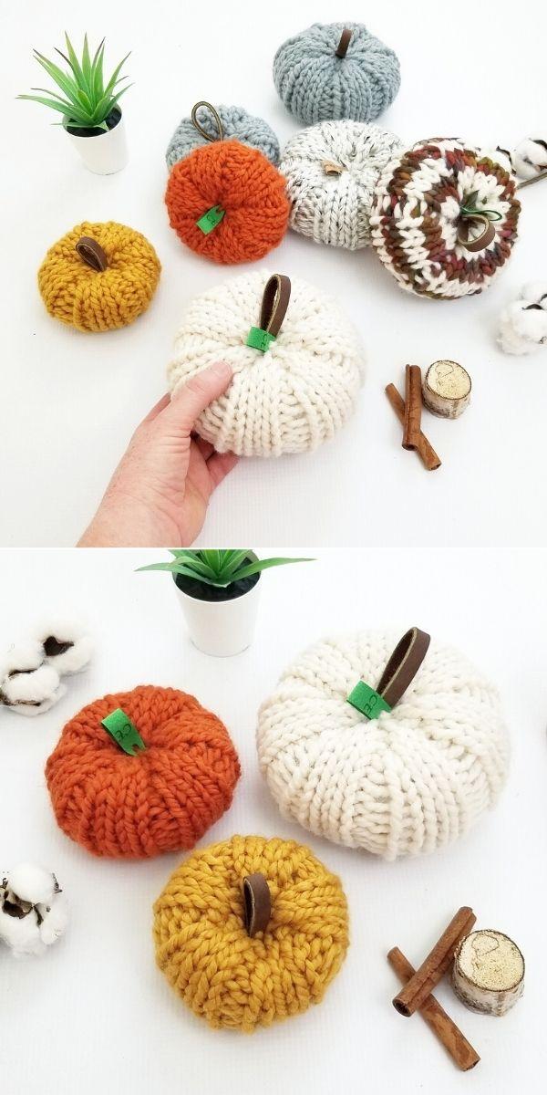 Lovely Knitted Pumpkin Decor Ideas - 1001 Patterns