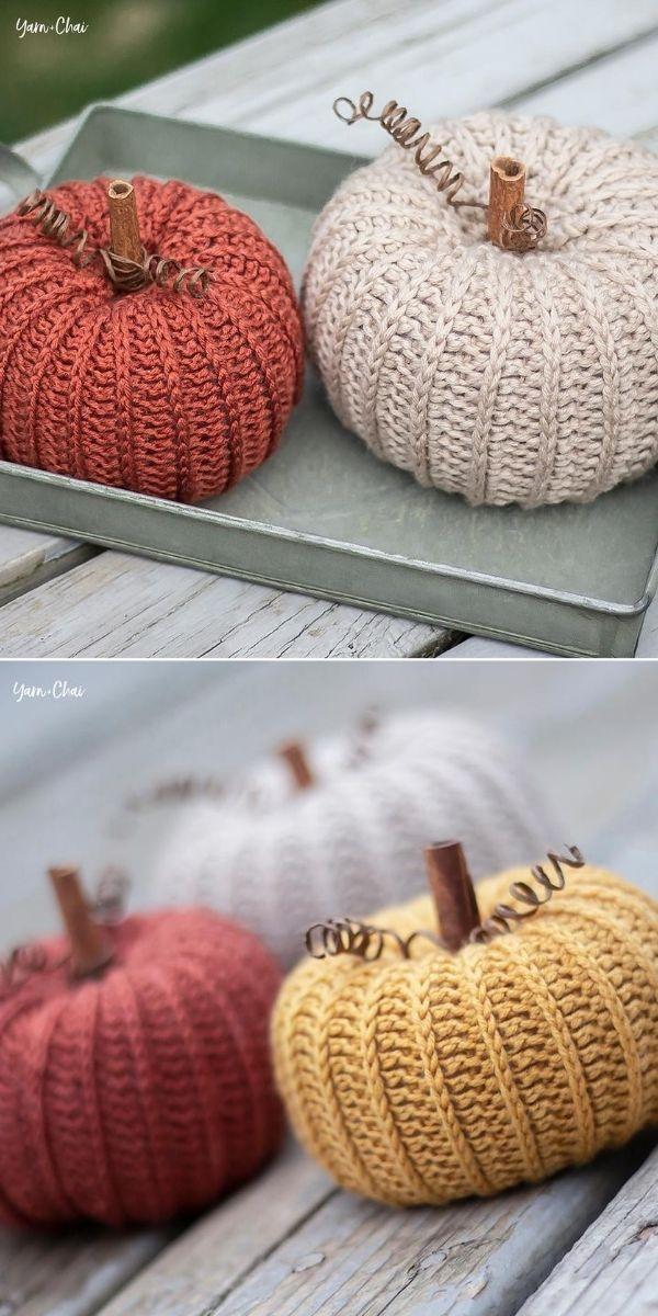 Little Rustic Crochet Pumpkins