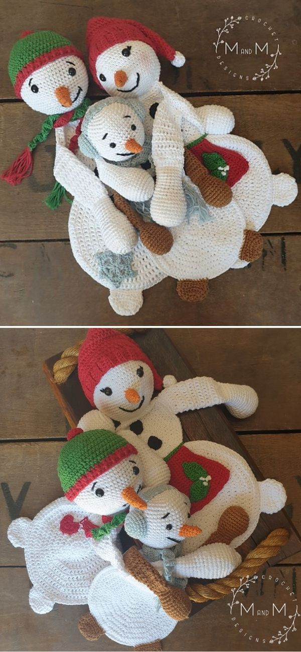 Melly Teddy Ragdoll Snowman Family