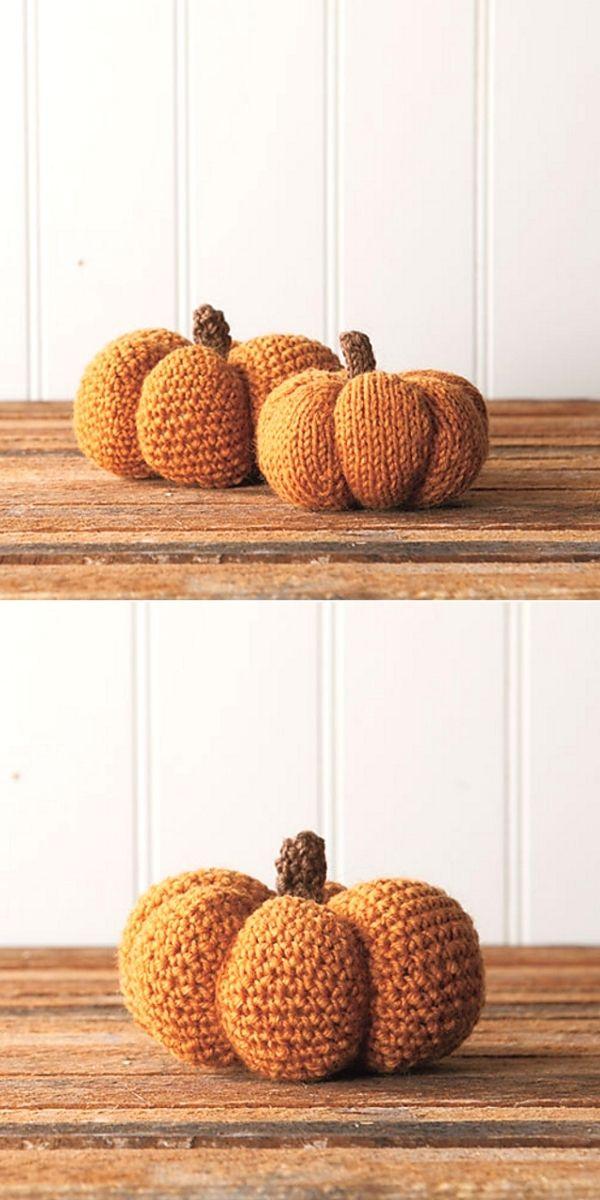 Spice & Clove Knit and Crochet Pumpkins