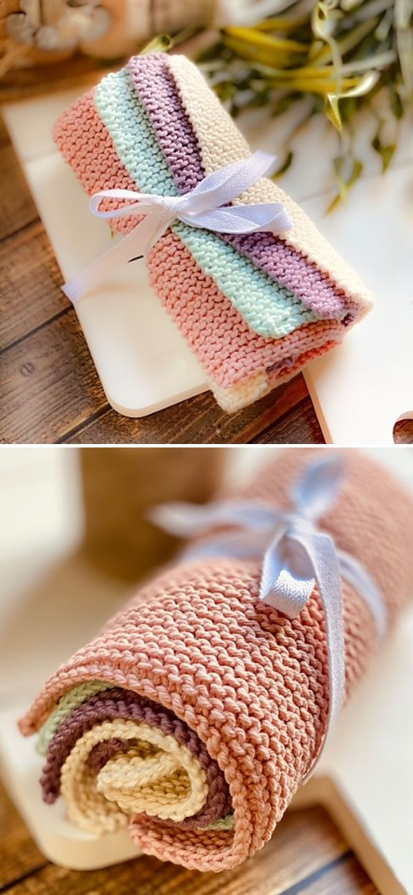 Simple Knitted Dishcloth