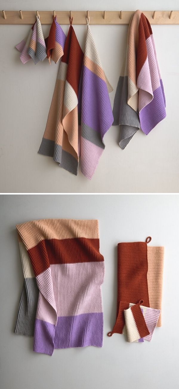 Stripes + Blocks Towel Set