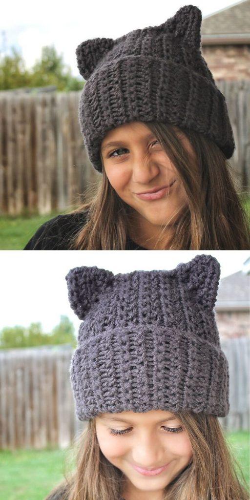 The Binx Kitty Hat Crochet Beanie