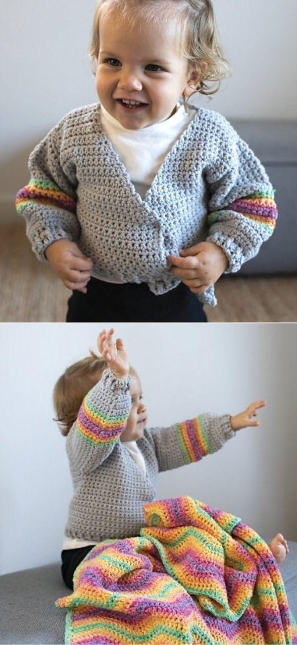 Baby Cardigan Rainbow