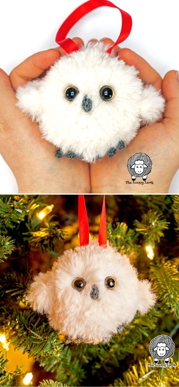 Baby Owl Crochet Tree Ornament