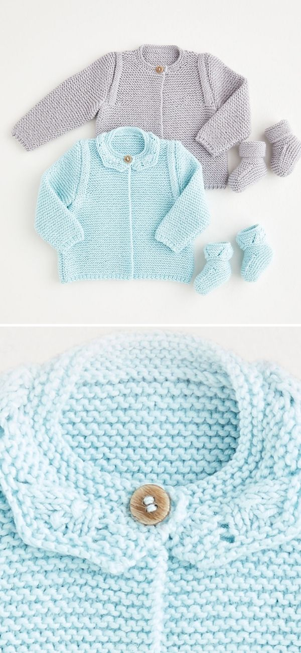 Cardigan and Booties 5386