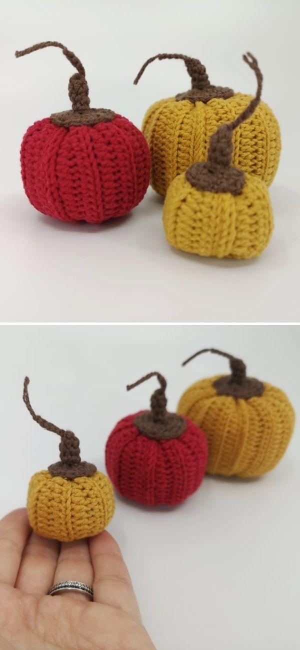 Crochet stuffed pumpkin