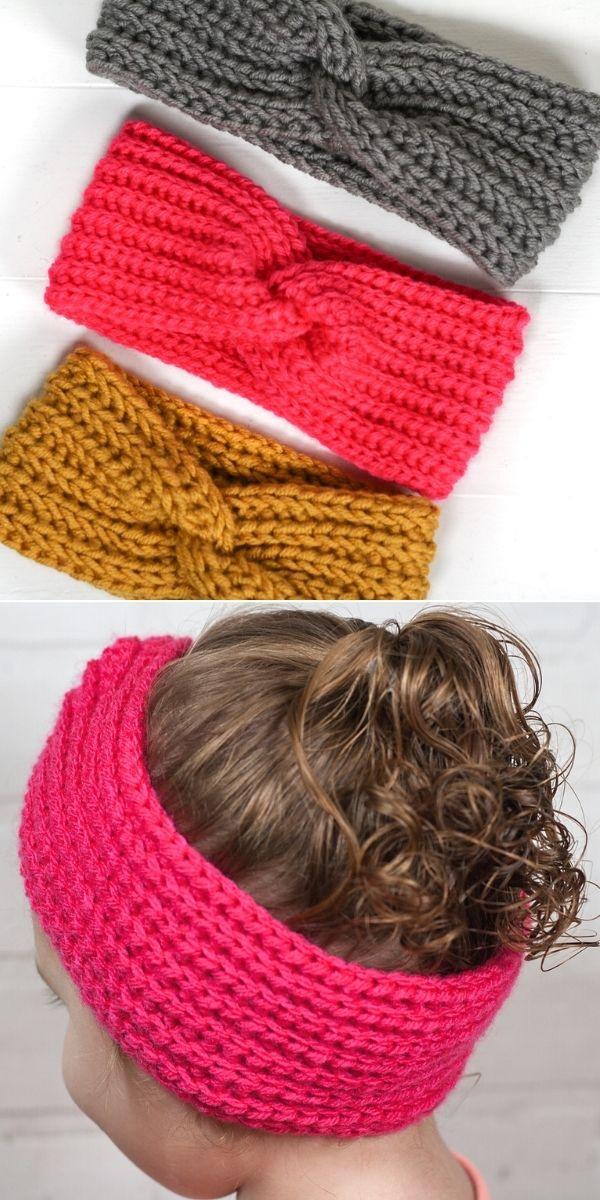 Faux Knit Twisted Ear Warmer