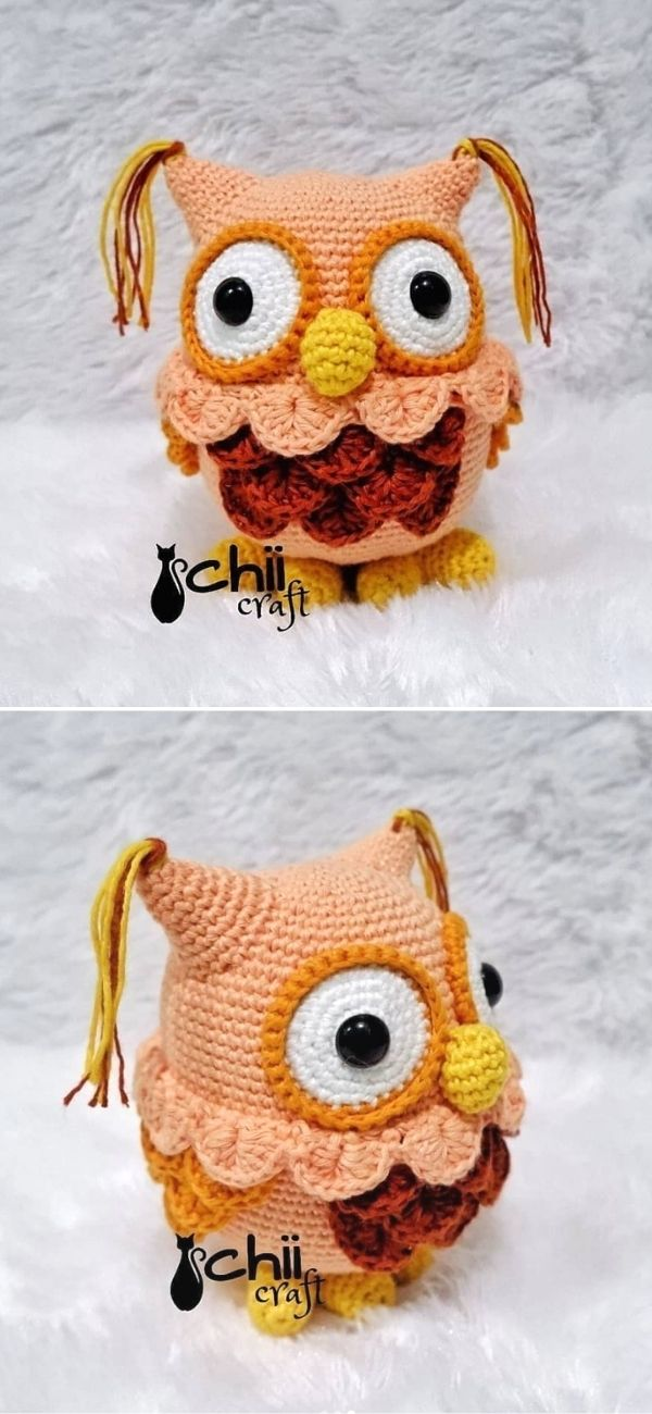 Lovely Peach Owl