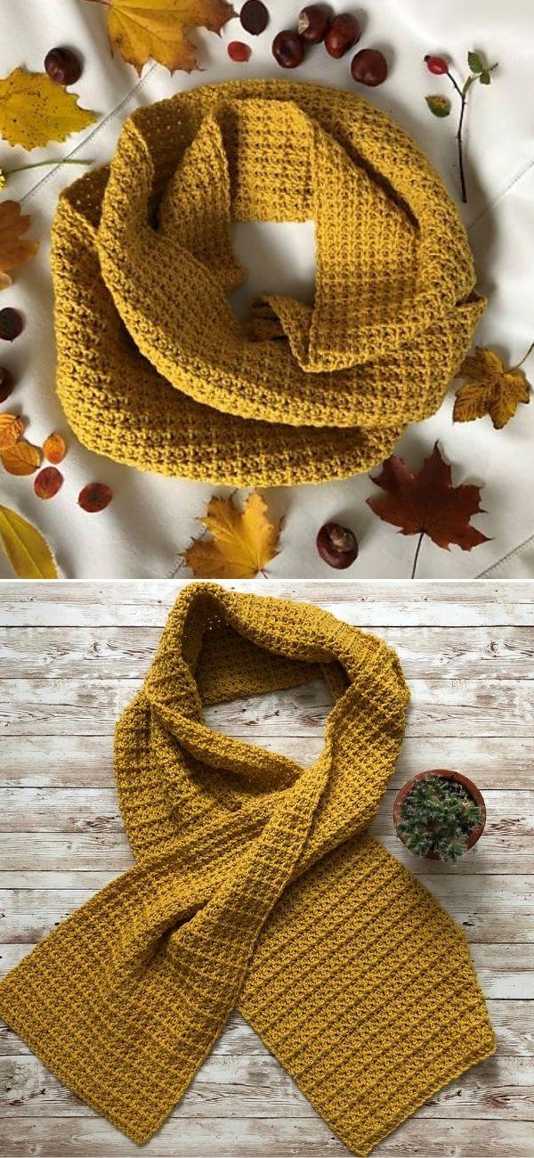 Merino mustard scarf