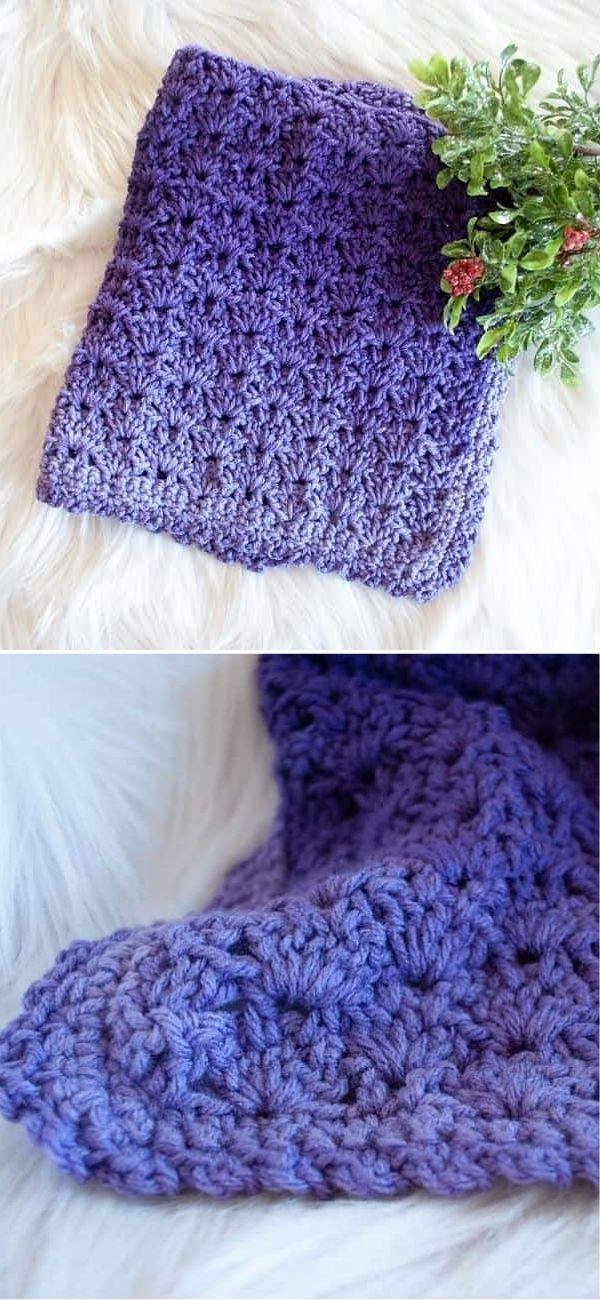 Purple Ombre Security Blanket