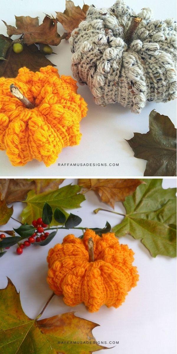 Tunisian Puffy Pumpkin