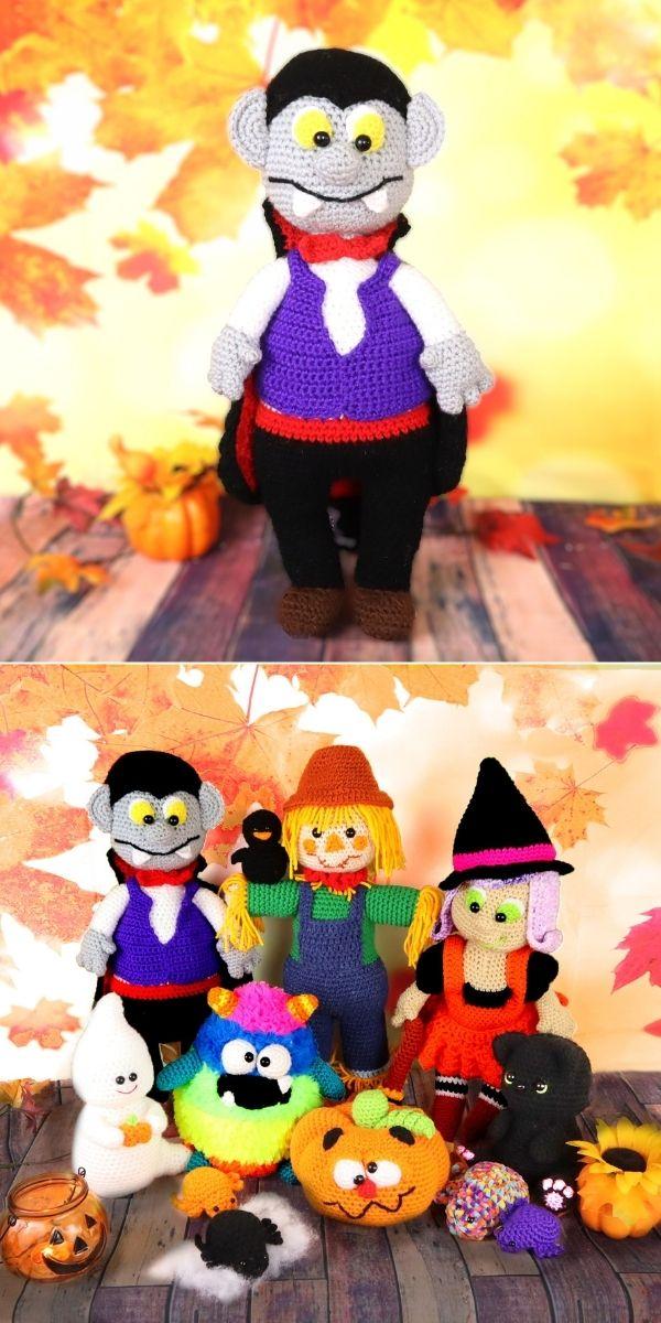 Vampire Halloween Amigurumi Doll