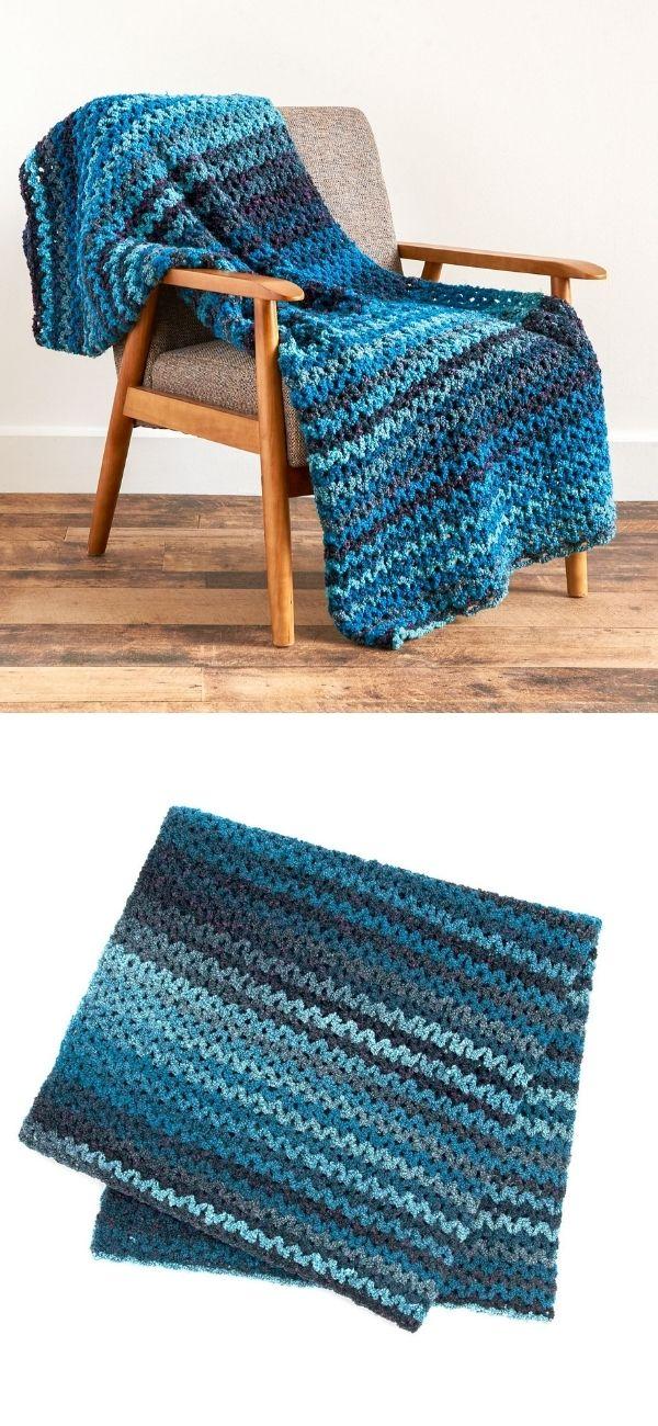 Wide V-Stitch Blanket