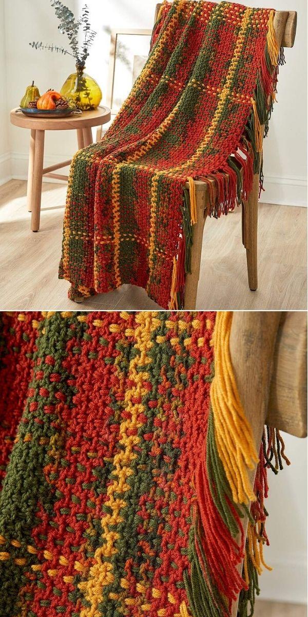 Lançamento de tecido de outono