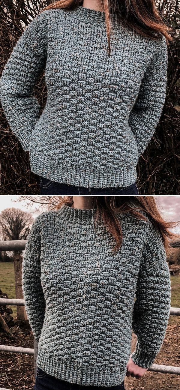 Basketweave Winter Sweater