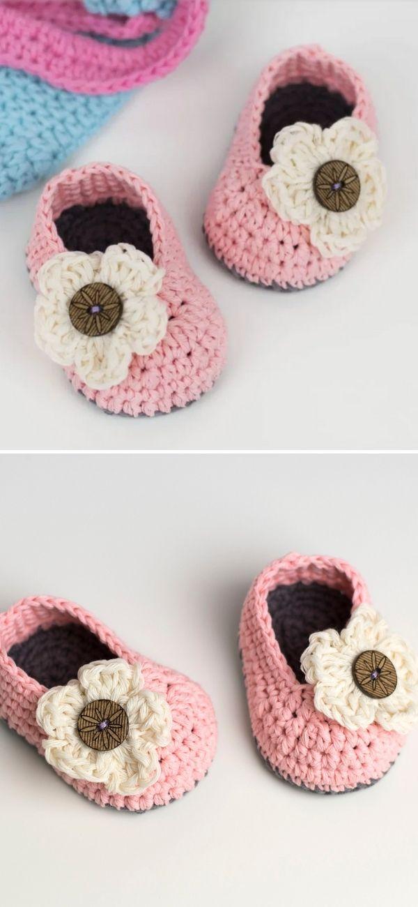 Crochet Baby Booties - Little Daisy