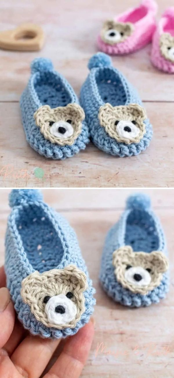 Crochet Easy Baby Shoes
