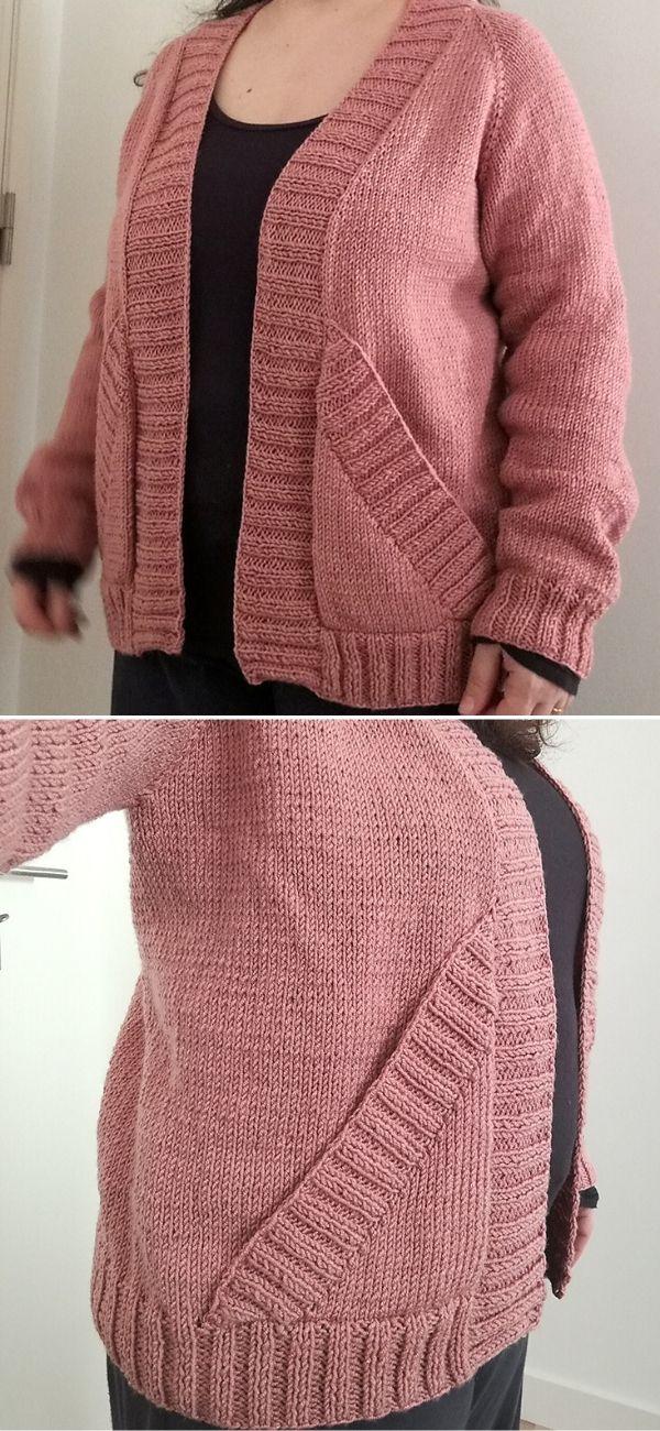 Effortless cardigan in pink