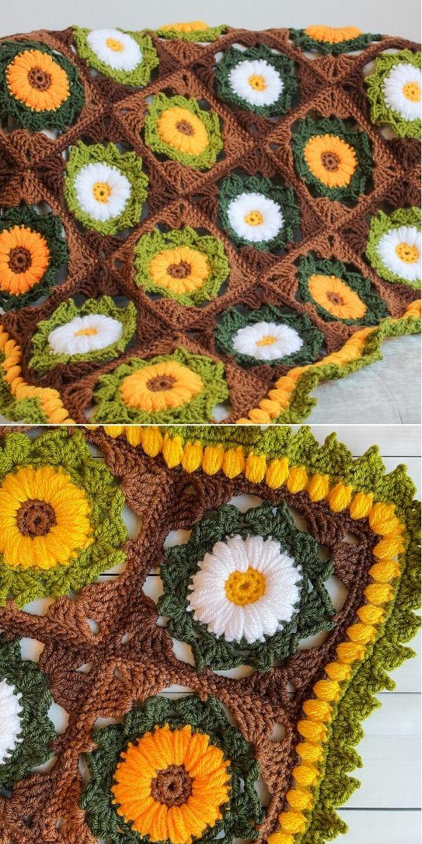 Manta flor medley
