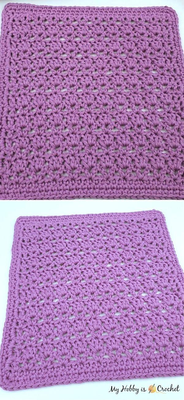 Lavender Fields Dishcloth