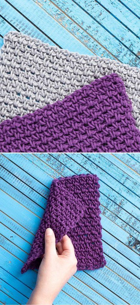 Linen Stitch Dishcloth