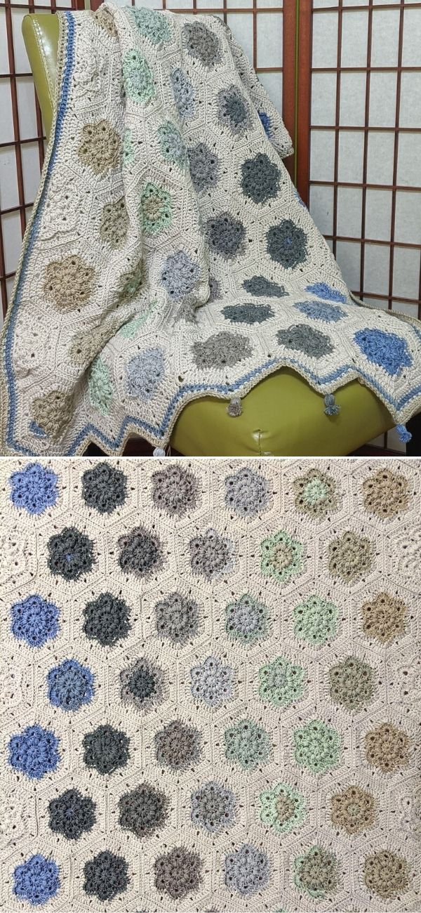 Mother's Day Blanket - Wind Flower Hexagon