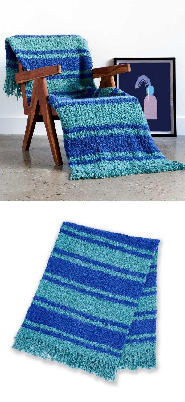 Nautical Stripes Blanket