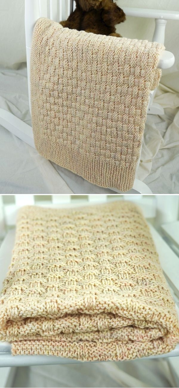 Pie Crust Basketweave Blanket