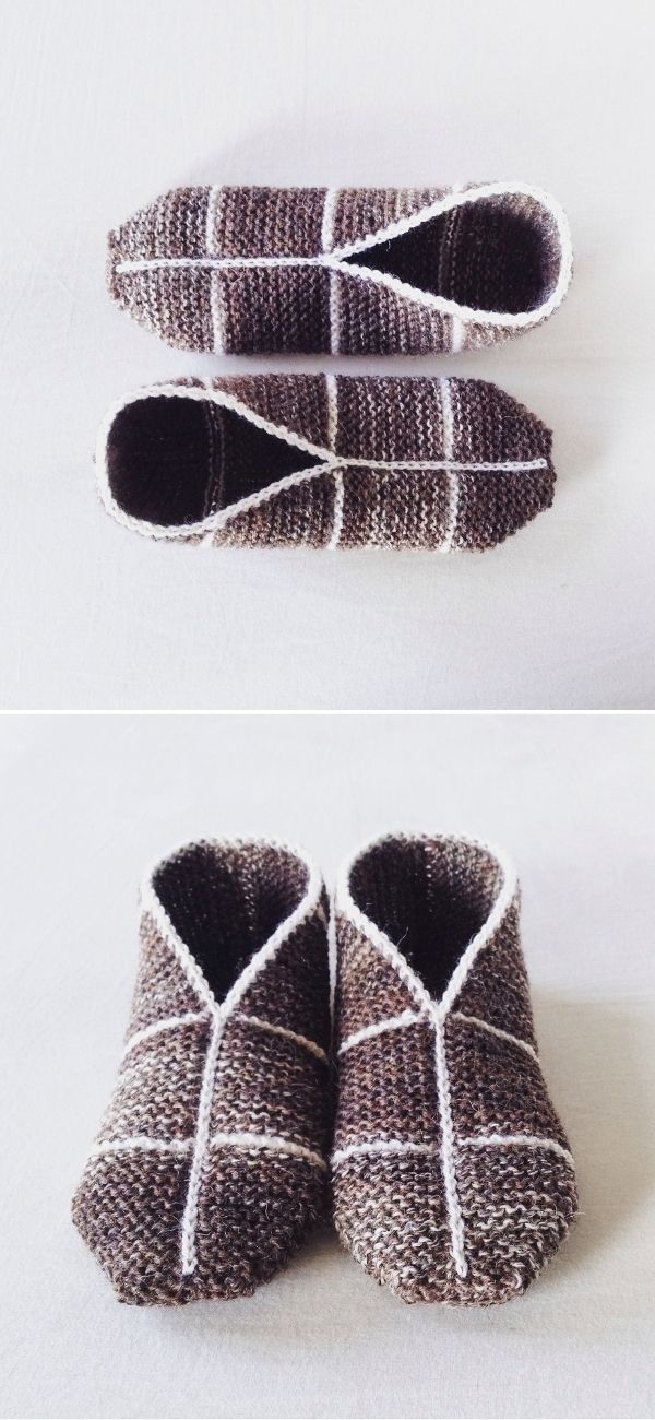 Simple Garter Stitch Slippers #3
