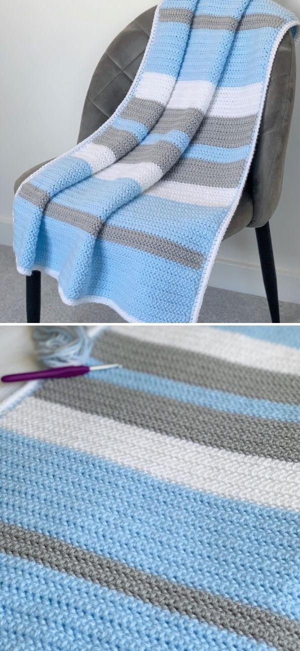 Summertime Stripes Crochet Blanket