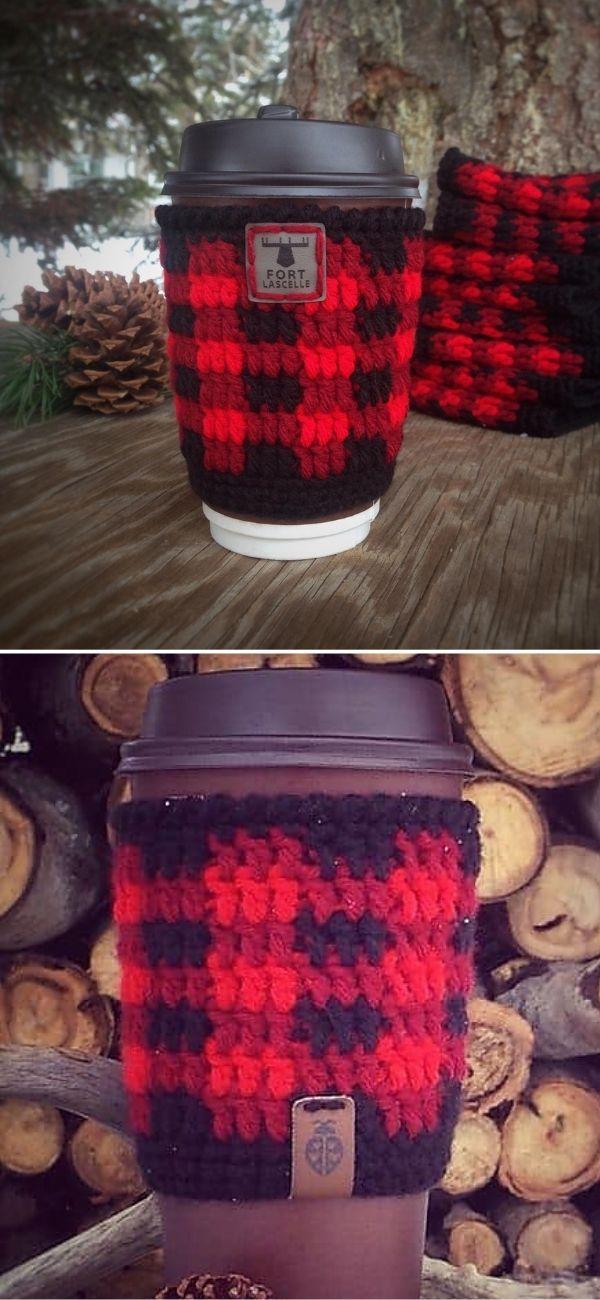 True North (A Buffalo Plaid Cup Cozy)
