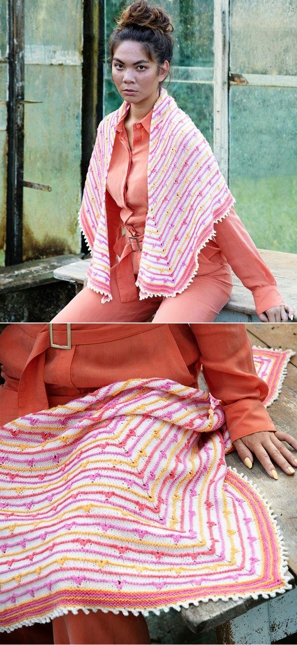 A beautiful, stripes shawl