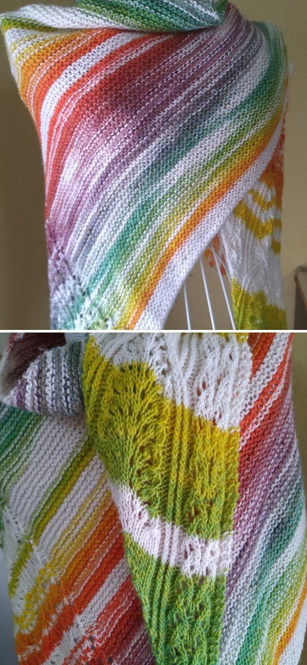 Arcobaleno shawl
